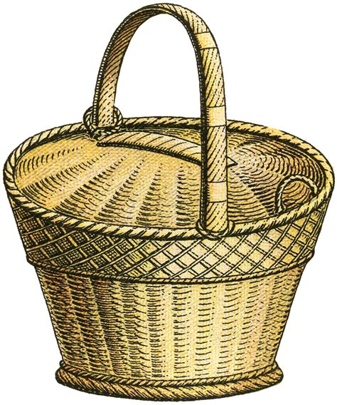Basket Clipart Wicker Basket Image The Graphics