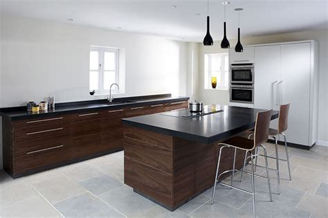 Contemporary Walnut Kitchen  Eternal Kitchens
