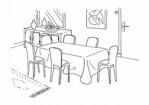 dessin dune salle a manger urbantrottcom With dessin salle a manger