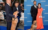 Tom Hardy brings his dog to the Legend premiere