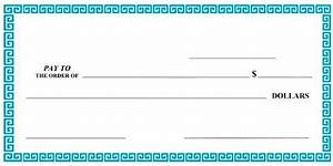 pics for gt customizable blank check template With oversized check template