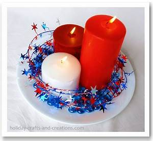 4th of July Decorating Ideas Using Wired Star Garland