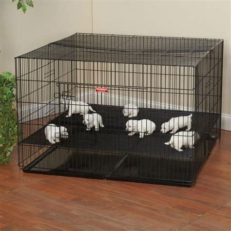 large puppy playpen close spacing xxh top front