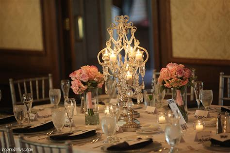 Crystal Lights Low Budget Centerpieces Wedding