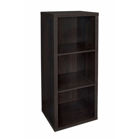 cube shelf organizer closetmaid 4107 decorative storage 3 cube organizer black