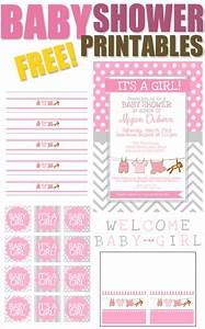 Baby Girl Shower Free Printables - How to Nest for Less™