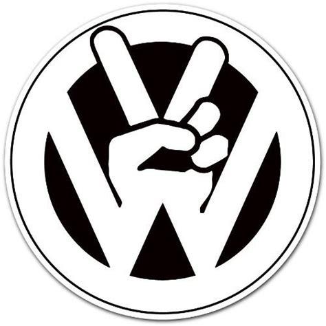 "Volkswagen Vw Peace Logo Car Bumper Sticker Decal 4""x4"" By"