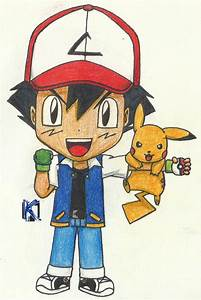 Chibi-ish Ash and Pikachu by Komal08731 on DeviantArt