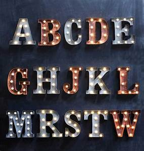 467 best images about abc easy as 123 on pinterest abc for Metal letters with lights