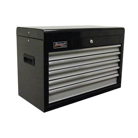 tool box dresser black shop homak se 17 in x 26 in 5 drawer bearing steel