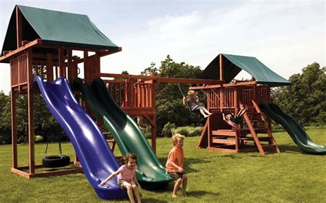 playground sets for backyards best ways playground sets promote active lifestyles in