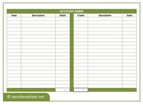 Ledger Template Excel General Ledger Excel Templates