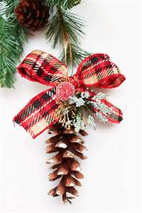 12, Cute, And, Natural, Diy, Pinecone, Christmas, Ornaments
