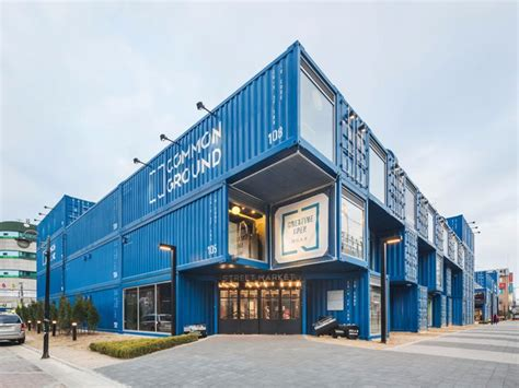 take out containers this mall in seoul is made of recycled shipping containers