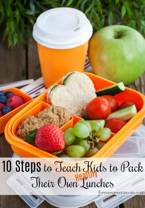 how to teach to make their own healthy school lunches 764 | 10stepshealthy