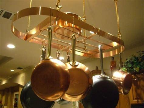 hanging copper pot racks handcrafted   metal peddler