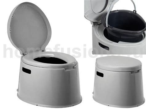 5l grey portable toilet manual compact potty loo cing