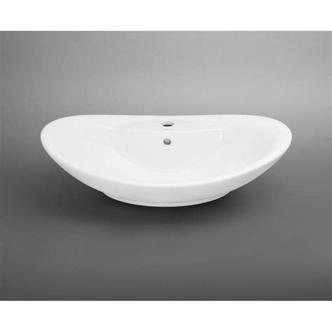 white oval vessel sink ronbow oval ceramic vessel bathroom sink in white 200223 wh