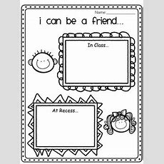 I Can Be A Friend Worksheet By Miss Page's Classroom Tpt