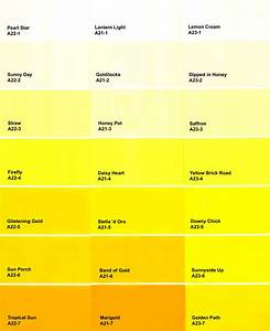 Yellow Paint Colors Color Chart ~ idolza