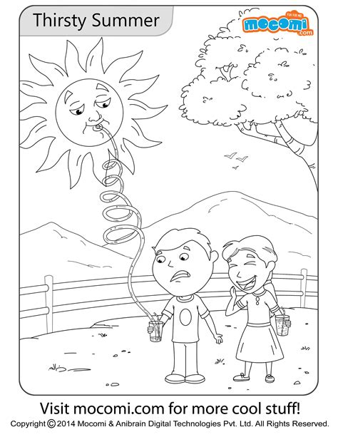 summer color pages thirsty summer colouring page jojo colouring pages for