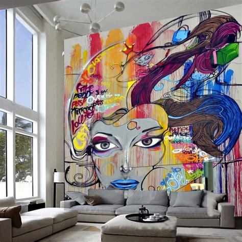 custom  modern art murals wallpaper beauty graffiti