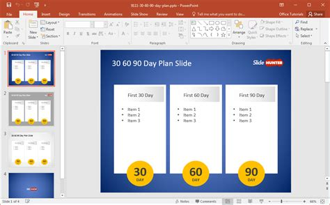 day plan powerpoint template