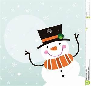 Cute happy cartoon Snowman stock vector. Image of december ...