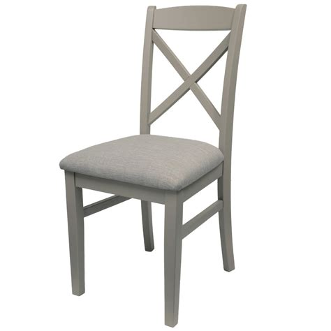 Ergonomically Correct Living Room Furniture by Florence Cross Back Upholstered Chair Dove Grey