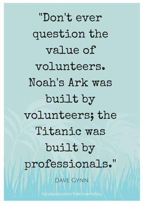 dont  question    volunteers www