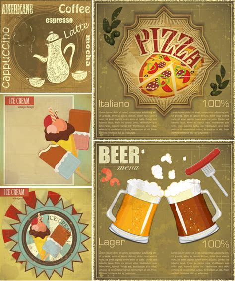 vintage cuisine food vector graphics page 2