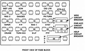 Location And Fuse Box Layout And Diagram For 1993 Chevrolet Cavalier 4 Cylinder Description Of
