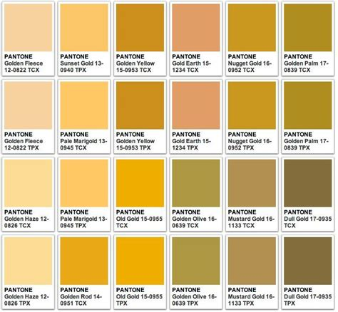 color code from image pantone gold pesquisa crafts pantone gold