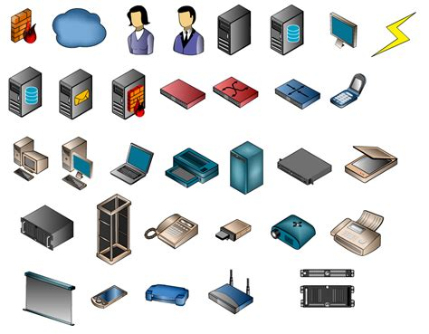 Network Server Diagram Icon by Computer Network Symbols Free Clip Carwad Net