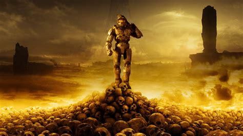 Halo Master Chief Halo 3 Skull Video Games Artwork