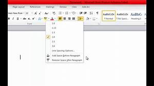 How To Format The Mla Essay In Ms Word 2010 Line Spacing