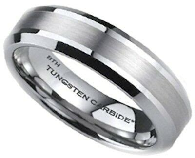 scratch proof 6mm luxury mens tungsten carbide wedding engagement ring ebay