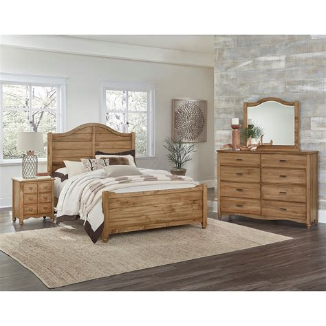 Shiplap Bed by Vaughan Bassett American Maple Solid Wood Shiplap Bed