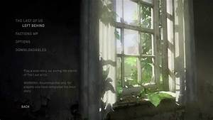 The Last Of Us Remastered Menu YouTube