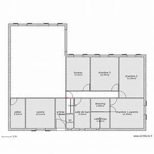 Maison 120m2 Plain Pied : maison plain pied 120m2 plan 12 pi ces 76 m2 dessin par maison plain pied ~ Melissatoandfro.com Idées de Décoration