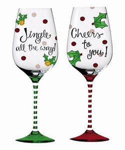 christmas wine glass painting ideas best 25 christmas