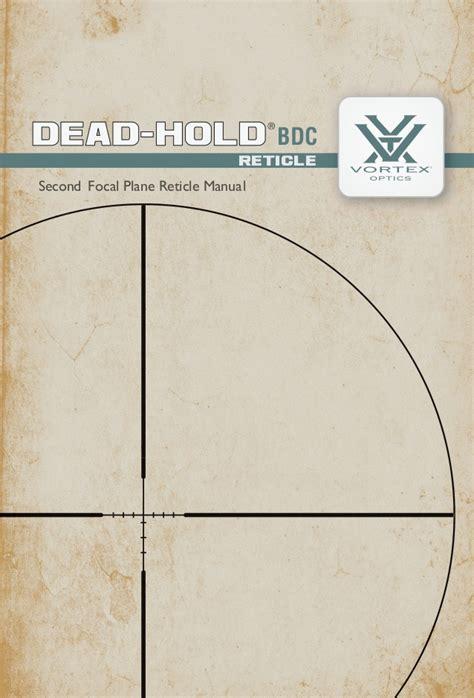 vortex dead hold bdc reticle subtensions optics trade