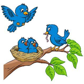 love birds aranyos cartoon animal kepek clipart