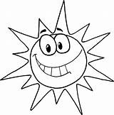 Sun Coloring Pages Printable sketch template