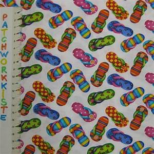 Stoff Flip Flops : bunte flip flops auf wei patchworkkiste ~ Frokenaadalensverden.com Haus und Dekorationen
