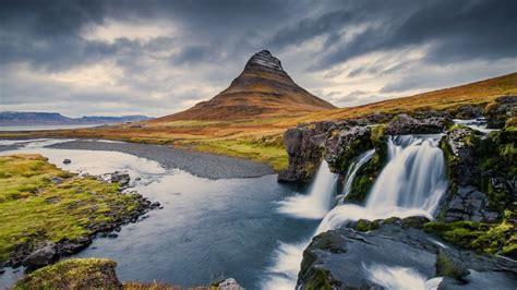 Kirkjufell Mountain And Waterfall Iceland Walldevil
