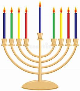 Hanukkah Menorah stock vector. Illustration of tradition ...