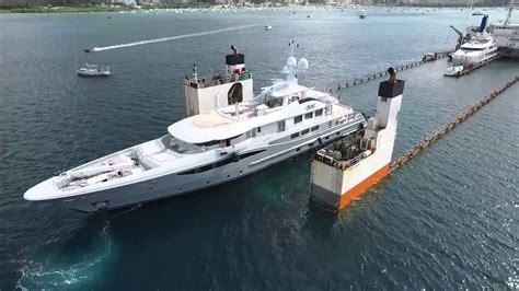 great aerial footage  dyt vessel super servant  float