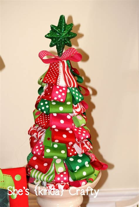 ribbon christmas tree christmas pinterest