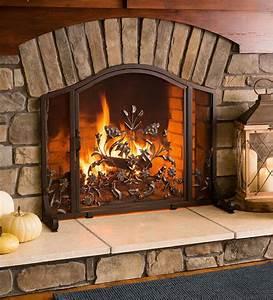 Ansley, Folk, Art, Fireplace, Screen, With, Door